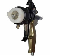 Wholesale Chrome spray gun PE solution double nozzle manual spray gun for siliver mirror painting free DHL shipping