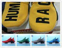 Wholesale 2016 Mens Pharrell Williams X Human Race NmDer Airs Yellow White Black Red HumanRace Theme Costume US7