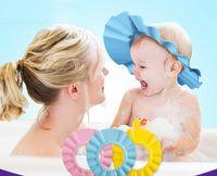 Wholesale 2016 New Multi function Resizable Children s baby Shampoo Cap Waterproof Shower Cap Flexible Adjustable Baby Shower Caps