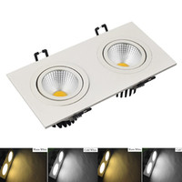 Wholesale New CREE COB Double spotlights Dimmable Led Ceiling Lights w Led Recessed Down Lights AC85 V Angle CE UL SAA