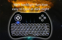 android keybaord - H9 Rii Mini i8 G English Wireless Backlight Keybaord with Touchpad for S905X S912 A95X X96 Android Mini PC Smart TV Box