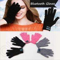 Wholesale 4 Colors Touch Bluetooth Gloves Winter Warm Touch Screen Gloves Knitted Mittens Unisex Mobile Phone Wireless Smart Gloves CCA5319 pair