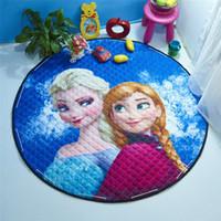 american mattress - HOT Frozen cartoon circular mattress foreign trade cotton baby crawling cushion toy bag