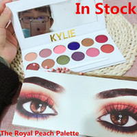 Wholesale In Stock Newest The Royal Peach Palette Kylie Jenner Cosmetics Kyshadow eye shadow Kit Eyeshadow Bronze and Burgundy Palette Cosmetic