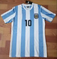 Wholesale Retro Version tops World Cup Argentina national team home Discount Cheap Football Shirts Customized Agentina Home Soccer shirts