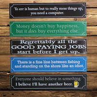 Wholesale 1PCS European Style Vintage Tin Sign Home Bar Club Decorative Retro Wall Poster Hanging Plates Metal Painting