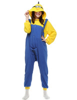 adult footed onesie - Winter Spring Polar Fleece Women Men Ladies Adult Unisex Footed Onesie Minions Pajamas Hooded Jumpsuits Romper Sleepwear S L