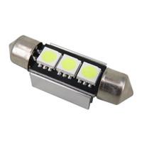best led dome light - 10x White MM LED SMD Festoon Dome best Car Light Interior Car Auto Reading Light Parking Lamp