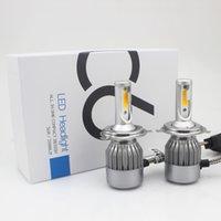 Wholesale 3000 k yellow light w a super bright LED car headlamps bulb H4 H7 H1 H3 H8 H9 H11 Car headlights refit suit DC v