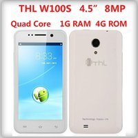 """Cheap New Original 4.5"""" THL W100S Quad Core MTK6589 Android4.2 Mobile Phone 1GRAM 4GROM 5.0MP+8.0MP Dual SIM GPS WCDMA Phone In Stock"""