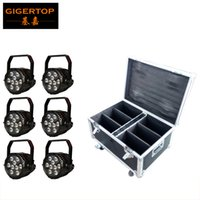 battery charging units - 6 Unit Battery Powered in1 Waterproof Led Par Light RGBWA UV Degree Lens G Wireless Control Charging Flightcase in1 Pack TP B03