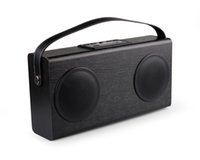 bank wooden - AVWOO Hot Promotion Wooden bluetooth speaker with FM Radio USB Charging Line in display power bank built in rechargeable battery