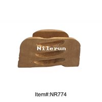 Wholesale creative bamboo root business name card holder rack