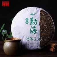 al por mayor chino pastel de té verde-China Yunnan puerh té 357g crudo puer chino Menghai shen taetea 357g pu er alimentos verdes de la salud pu erh torta er er té 357g