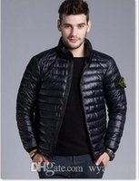 Wholesale Brand New Men Down jacket spring autumn winter stoned is land collar thin coats men brief paragraph big yards