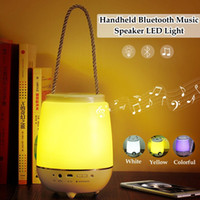 audio light switch - Handheld Bluetooth Music Speaker Changing Night Lights Timing switch with Mic Aux Input Portable Dimming LED Colorful Bed Lamp table Speaker