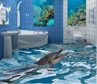 Fabric beautiful bathroom tile - New Custom D Beautiful D bathroom floor tile wallpaper for bathroom waterproof
