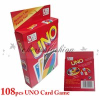 Wholesale Fedex DHL Free new g UNO poker card standard edition family fun entermainment board game Kids funny Puzzle game UNO card board games Z92B