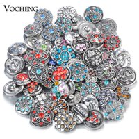 bag snap hook - Vocheng Noosa Clearance Sale Mix Sales bag Random Choice18mm Crystal Snap Button Accessories Vn