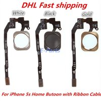 Wholesale For iPhone S Home Menu Button Key Return Flex Cable Ribbon Assembly Repair part for iPhone S Original New DHL Fast