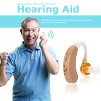 Wholesale JECPP Behind the Ear Hearing Aid with Earplug Mini Volume Adjustable Sound Amplifier Hearing Assistance for Elderly Audiphone