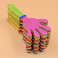 > 6 years old baby pets games - Plastic Hand clapper clap toy cheer leading clap for Olympic game football game Noise Maker Baby Kid Pet Toy