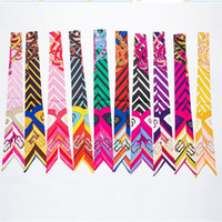 Wholesale New Twilly Scarf Colorful Fashion Handbag Handle Decoration Accessories Mix Colors twilly Bow Hair Bands Scarves