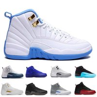 Mid Cut Unisex Winter [With Box]High Quality Retro 12 Wool Men Basketball Shoes 12s Wool Grey Black Man And Women 12s Sports Sneakers women running shoes for men