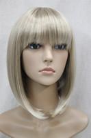 2017 nouvelle mode de vie Super mignon mignon mignon BOB Light Blonde mêlée courte perruque pleine femme droite