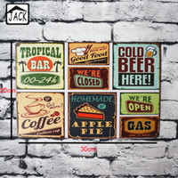 Wholesale Beer Coffee Pie Good Food CM Metal Tin Plaques Gallery Coffee Cake Shop Wall Home Decor Tin Painting Tin Signs