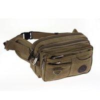 Wholesale New style Men belt bag Canvas leg bags waist pack bag fanny pack running belt men travel bicycle bags