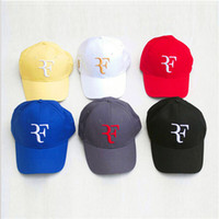 Wholesale Roger Federer Cap Tennis Hat with Black Red White Blue and Yellow