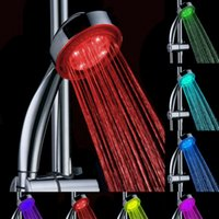 Wholesale led bathroom shower light Colors Changing Automatic Shower Spray Nozzle multi color Shower Head LED Light