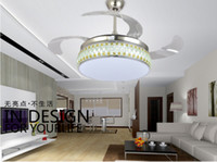 Wholesale Stealth restaurant chandelier fan ceiling lights living room inch minimalist remote control LED chandelier fan ceiling