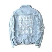 Wholesale 424 Kanye West Pablo Denim Jackets Men Hip Hop Yeezus Tour Streetwear Jeans Jackets I Feel Like Kanye