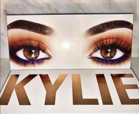 Wholesale 2017 kylie Newest kylie the royal peach palette Royal Peach Palette Burgundy Eyeshadow palette Kylie Jenner Cosmetics