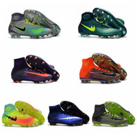 Wholesale Mercurial x EA SPORTS Superfly women mens soccer cleats turf kids soccer shoes new magista obra fg football boots cr7 boys youth superflys