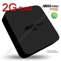 8GB 4k ultra hd tv - M8S pro G RAM G ROM version android kodi pre installed K ultra hd output smart tv boxes