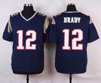 Wholesale Navy Blue Julian Edelman Tom Brady Rob Gronkowski Elite Mens Football Jerseys Stitched Football Shirts Playoffs Jersesys