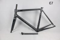 achat en gros de pas cher cadres photo blanc-2017 La plus récente photo en noir et blanc de cadre de route de carbone C60: 48/50/52/54 / 56cm Cadre bon marché de vélo de carbone