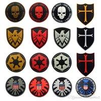 Wholesale 50 Star Wars Skull ONE SHOT ONE KILL Tactical Military Morale D PVC Hook Loop Patch US Military Rubber Badge