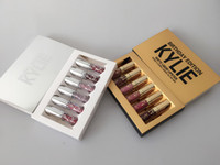 Wholesale 1set In Stock Kylie Matte Lord Metal Gold LIMITED EDITION KYLIE BIRTHDAY COLLECTION Kylie Birthday Edition
