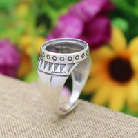 Wholesale Art Nouveau Sterling Silver Engagement Wedding Retro Ring mm Round Cabochon Semi Mount Fine Silver Ring Setting