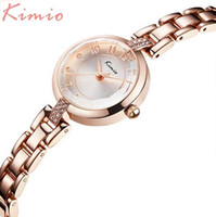 Luxury Women's Water Resistant 2017 Fashion Brand Kimio Luxury Quartz-watch Ladies Watch women Gold Rhinestone Bracelet Waterproof Watches with gift box