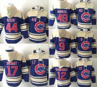 hoodies - New World Series Champions patch Chicago Cubs Hoodie Anthony Rizzo Kris Bryant Arrieta Kyle Schwarber Javier Baez Baseball hoodies