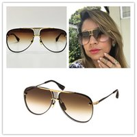 anniversary frame - Dita Decade Two Limited Edition Anniversary Black With Gold Frame Gradient Brown Lens Women Men Pilot Sunglass k Gold Plated
