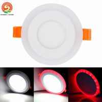 2016 les plus récents downlights led rgb plafonniers encastrés 6w 9w 18w 24w led down rgb + couleurs blanches ac 85-265v