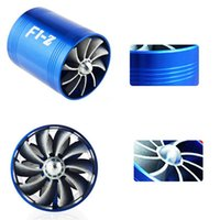 Wholesale Blue Cold Air Intake Turbo Fan Supercharge Filter Induction Pipe Kit Universal F1 z With