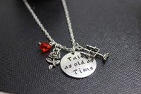 Pendant Necklaces beauty tale - 12pcs Antique silver Beauty and the Beast inspired Necklace Tale as old as time necklace Beauty and Beast Charm Necklace Fairytale