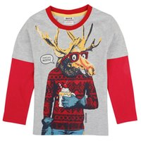 baby montage - Boy s T shirts New style Baby Clothing Autumn Winter England Style Fashion Montage Hot sale A4991